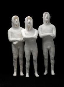 """""""3 petits jeunes"""" résine 2012"""