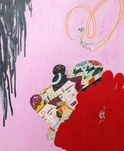"""""""L'amour est dans le sang de la fleur"""" huile sur toile 65 x 50 cm 2011"""