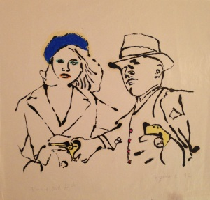 « Bonnie and Clyde » 25 x 26 cm 1972