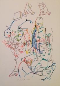« Viens ma poule » 50 x 35 cm 2012