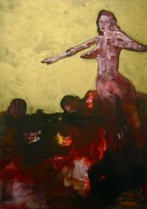 """""""Sans titre"""" acrylique sur toile 140 x 100 cm 2012"""