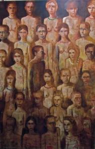 """""""Sans titre"""" acrylique sur toile 195 x 130 cm 2012"""