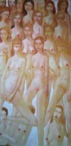 """""""Sans titre"""" acrylique sur toile 195 x 97 cm 2012"""