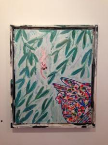 """""""Rêve de la jeune feuille"""" huile sur toile 46 x 38 cm 2012"""