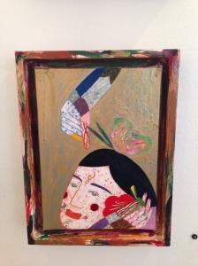 """""""New face"""" huile sur toile 22 x 16 cm 2012 / 2013"""
