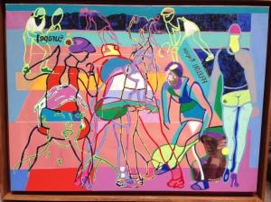 « Roland Garros »  54 x 73 cm 2008