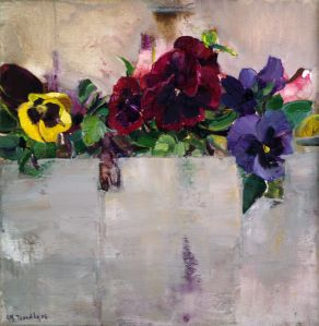 """Pansies in a flower-bed II"""