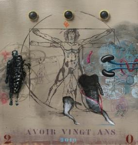 """Avoir 20 ans"" 42 x 39 cm"