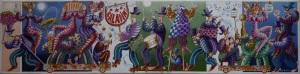 """""""Les baladins""""  80 x 20 cm acrylique 2013"""