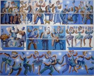 """""""Minuit carnaval""""  73 x 60 cm acrylique 2013"""