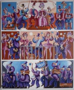 """""""Parade"""",  60 x 49 cm acrylique 2013"""