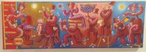 """""""Roulez Noël"""" bandeau  20 x 60 cm acrylique 2013"""