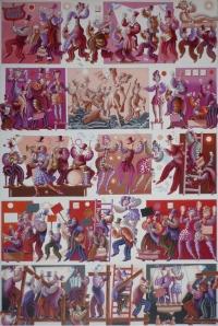 """""""La liberté guidant le peuple"""" acrylique sur toile 120 x 80 cm 2013"""