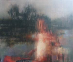 """""""Sans Titre"""" 150 x120 cm huile sur toile. Jin Bo"""