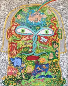 """""""Après le déluge"""" Acrylique sur panneau 116 x 90 cm 2013"""