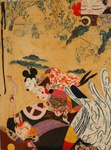 """Japanese spring"", huile sur toile 130 x 97 cm 2014"
